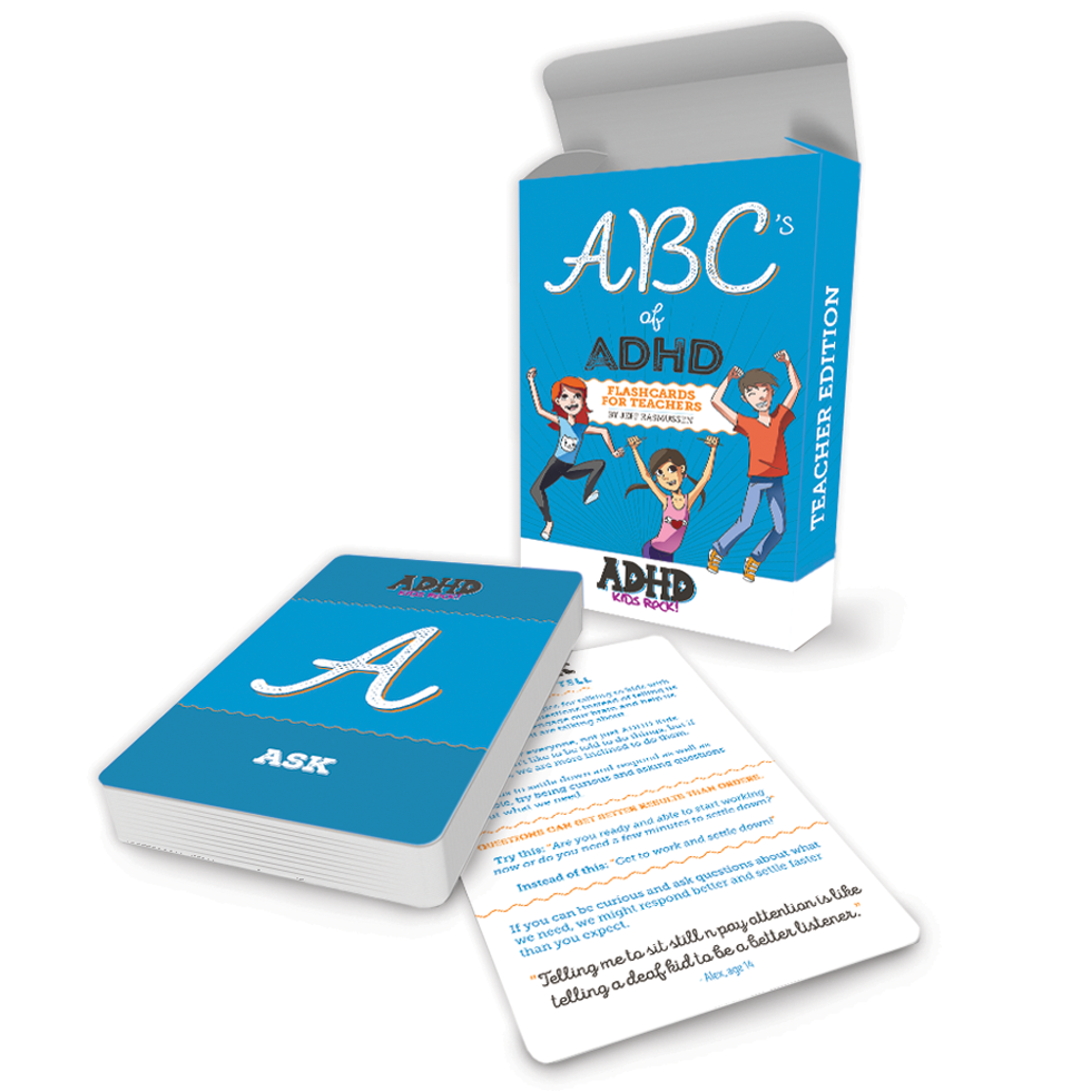 The ABC's of ADHD - Flashcards for Teachers
